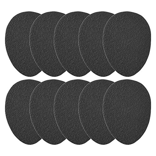BCP 5 Pairs Anti-Slip Rubber Shoe Grips Self-Adhesive High-Heeled Shoe Pads Sole Protector Sticker -