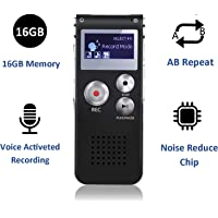 $21 » Digital Voice Recorder, 16GB Voice Activated Recorder with Playback, SHANGCAI Mini Audio…
