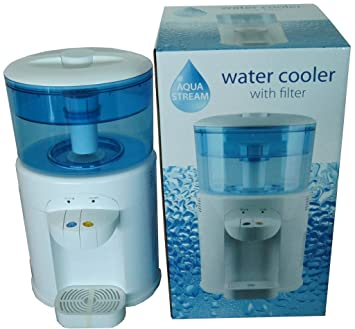 AQUA STREAM 5 LITRE FAMILY TABLE TOP WATER COOLER FILTER FOR HOME OR OFFICE