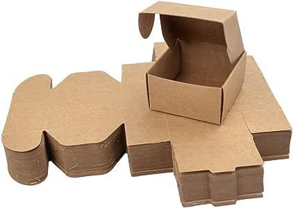 Freahap 50pcs Caja de Regalo Cuatro Tamaños Cajas de Papel Kraft para Jabón Cajas de Pastel Envoltura de Postre M: Amazon.es: Hogar