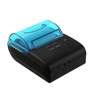 YHML Impresora Térmica De 58 Mm Bluetooth Inalámbrica De La ...