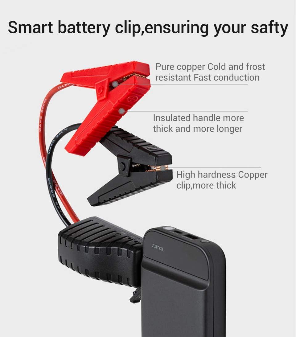 Alician 70mai Jump Starter 11100mAh Portable Voiture Jump Starter Batterie durgence Booster Batterie /étanche Chargeur Power Bank Kit