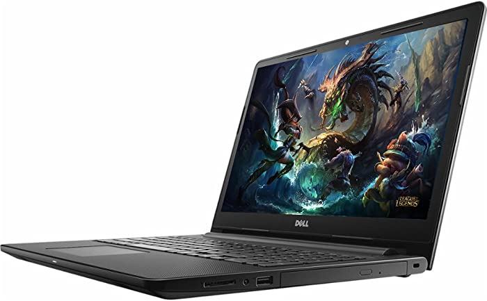 "2018 Newest Dell Premium Business Flagship Laptop Notebook 15.6"" HD+ LED-Backlit Display Intel i5-7200U Processor 8GB DDR4 RAM 256GB HDD DVD-RW HDMI Webcam Bluetooth Windows 10 Pro-Black"