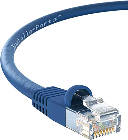 by Konnekta Cable Cat5e White Ethernet Patch Cable Bootless Pack of 10 1 Foot