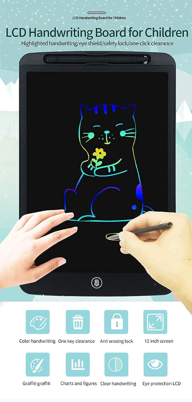 Orimi 12 Pulgadas Tableta de Escritura LCD Tablero de Escritura electr/ónico Tablero de Dibujo gr/áfico port/átil Digital Linea monocrom/ática, Rosa