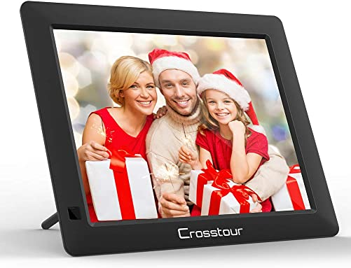 Digital Picture Frame, Crosstour Electronic Photo Music Video Frame 4 3 Wide Screen with Remote Control, Best Gift for Your Christmas New Year