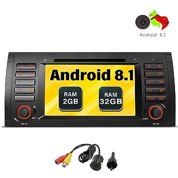Freeauto Android 7.1 estéreo de coche para BMW E39 E53 M5 X5 Radio de coche Audio