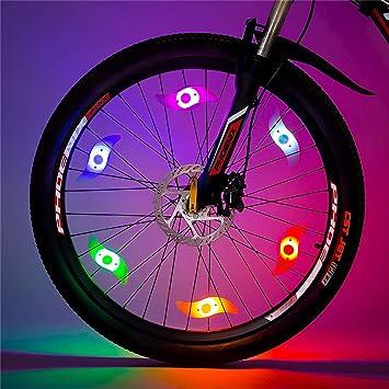 Smdoxi - Luz para rueda de bicicleta, luz de radio de sauce, luz ...
