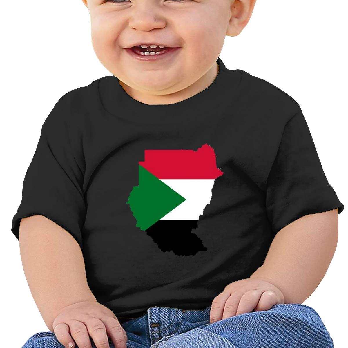 Moniery Sudan Flag Map Short-Sleeve Shirts Baby Boy Kids