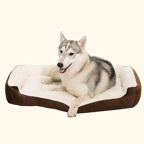 DUBU Camas para Perro, cálida Cama de Felpa para Gatos, de Terciopelo Rectangular, Lavable, para Mascotas, sofá Cama para Gatos y Perros, ...