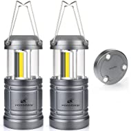 LED Camping Lantern Lights Collapsible - Moobibear 500lm COB Technology Camping Lantern Battery Powered with Magnetic Base for Night, Fishing, Hiking, Emergencies