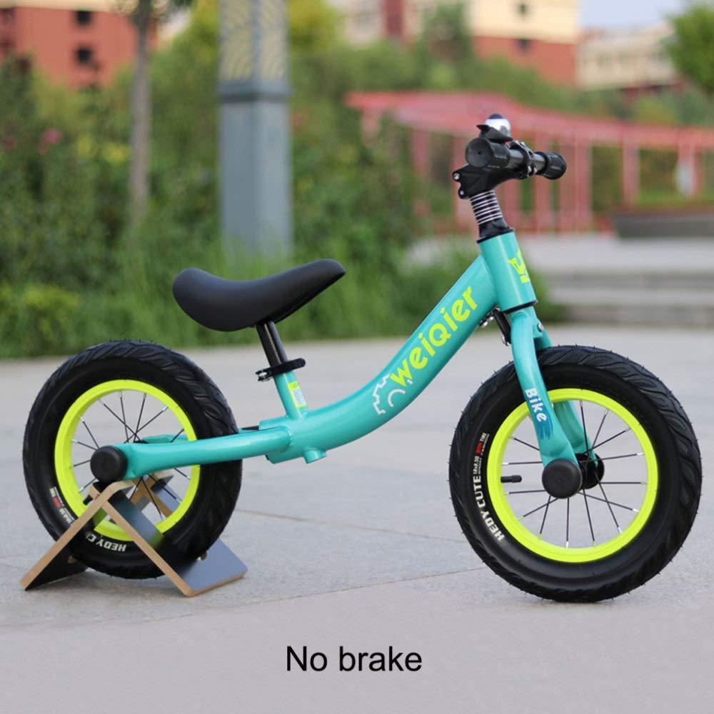 A JYY Safety bambini First Running Balance Bike con Frenos Y Neumáticos Neumáticos De Goma Y Campana para Niños De 2 A 5 Años De Edad,E
