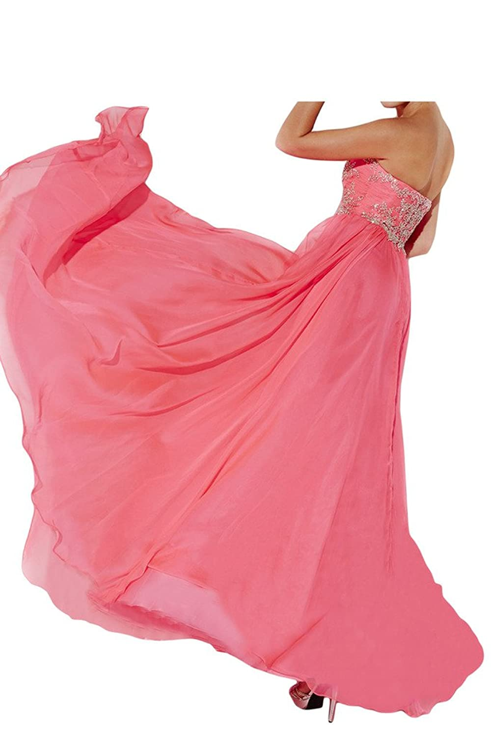 Gorgeous Bride Chiffon Long Beaded Exquisite Bridesmaid Prom Party Dress 2015