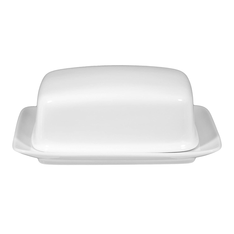 Butterdose 17,3 cm Compact white uni 00006 2 Stück von Seltmann Weiden