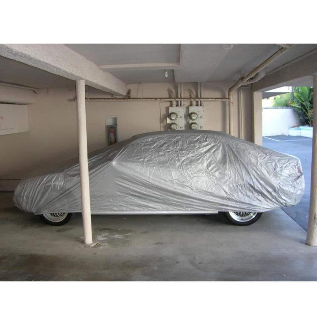 Argento Copriauto Telo Copriauto Auto Impermeabile Pieghevole Anti UV Anti Pioggia Sole PEVA Car Cover Allaperto Copriauto per Modelli Multipli S-XXL