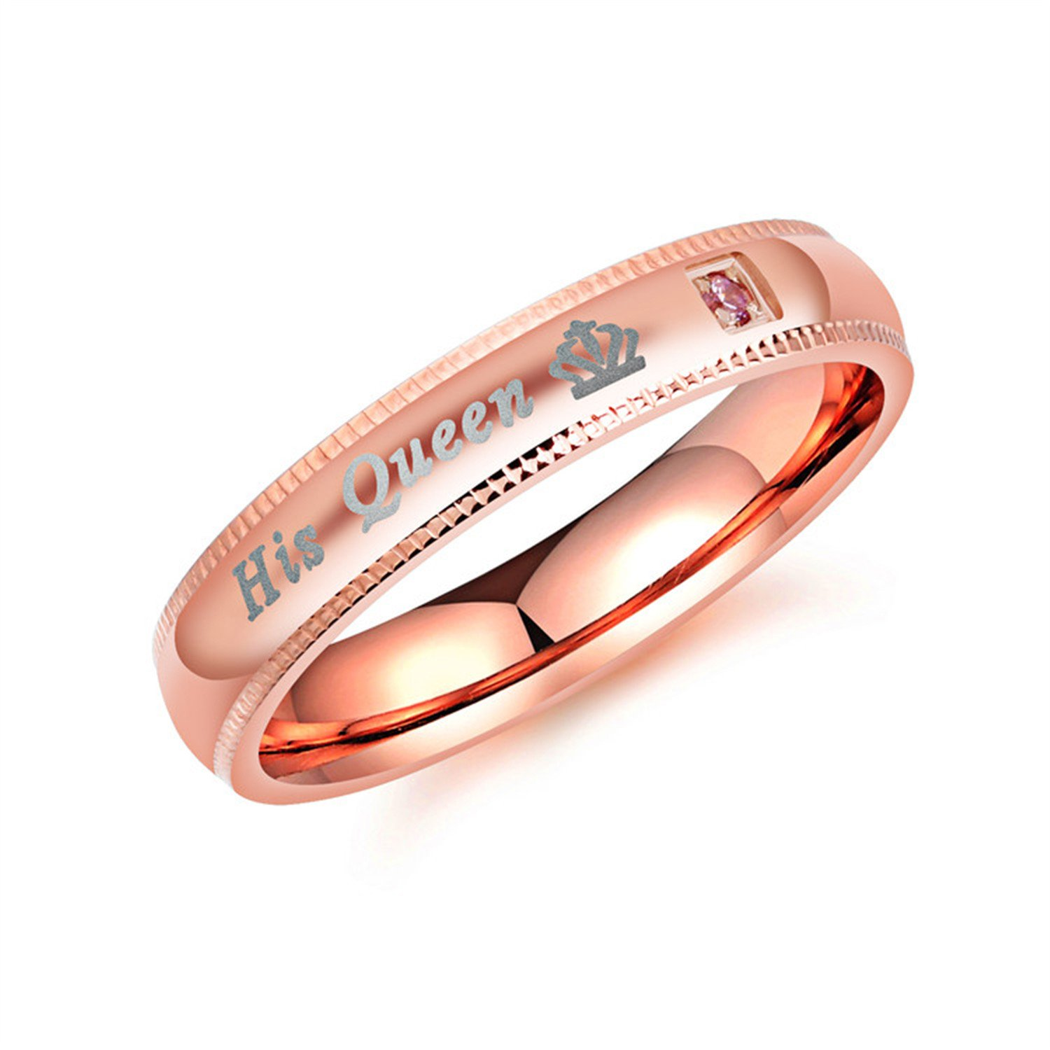 Couple Jewelry Her King and His Queen Rings for Women Men Gifts marwar