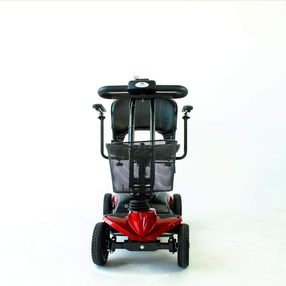 Mobiclinic Scooter eléctrico con 4 Ruedas | Compacta y Desmontable | Color Burdeos | Virgo: Amazon.es: Hogar