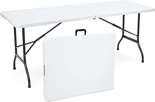 Discount Zone Heavy Duty Square Folding Table 2ft And 10 Inch With Folding Legs Amazon Co Uk Kitchen Home