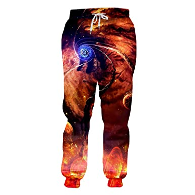 Pantalones de Hombre Joggers Cool 3D Graphic Print Galaxy Space ...