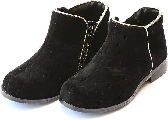 LAmour Avril Toddler Kid /& Youth Girls Ankle Boots Zipper Black Velvet