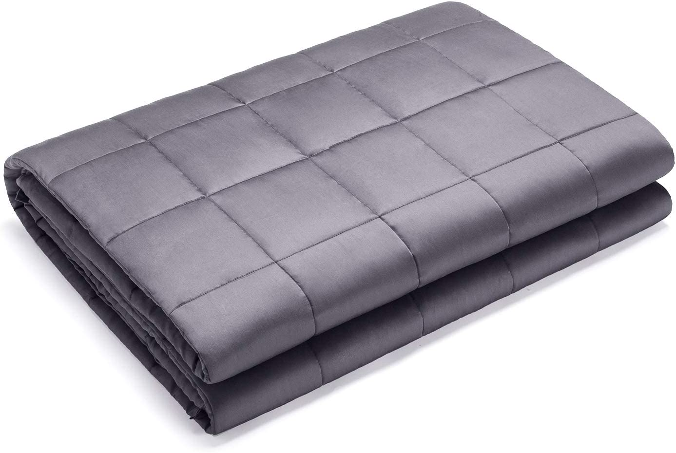 UBBCARE Dreamcountry Bamboo Weighted Blanket Adult 25 lbs 80''x87'' for Couple King Size Cooling Touch Heavy Weighted Blanket with Premium Glass Beads Dark Grey