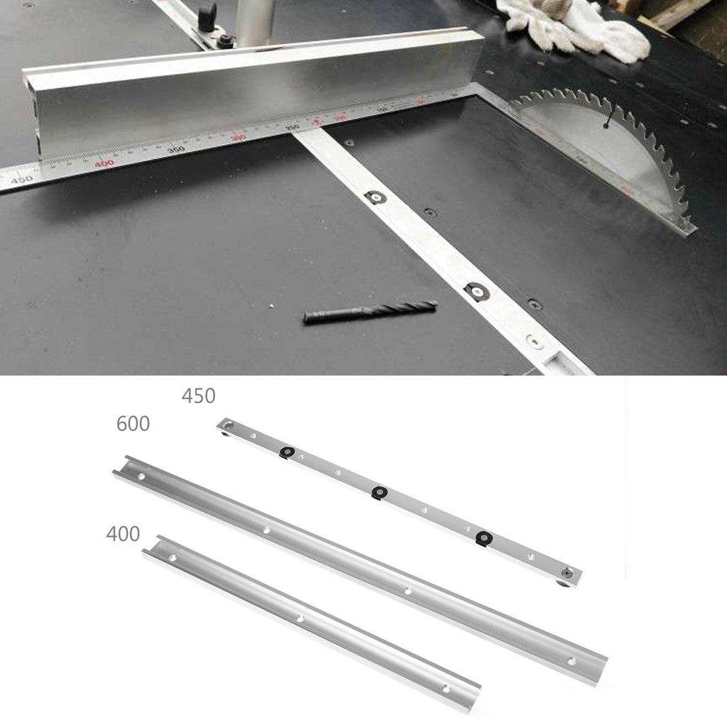 siwetg 400//600 Mm T-Tracks Aluminio Slot Mitre Track Jig Fixture para Bandas De Tabla De Enrutador