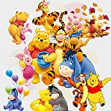 GoBuyMall Peel and Stick Wall Decals Stickers for Children & Kids & Baby & Nursery Wall Art Room Decor (Winnie the Pooh and Tigger Too)