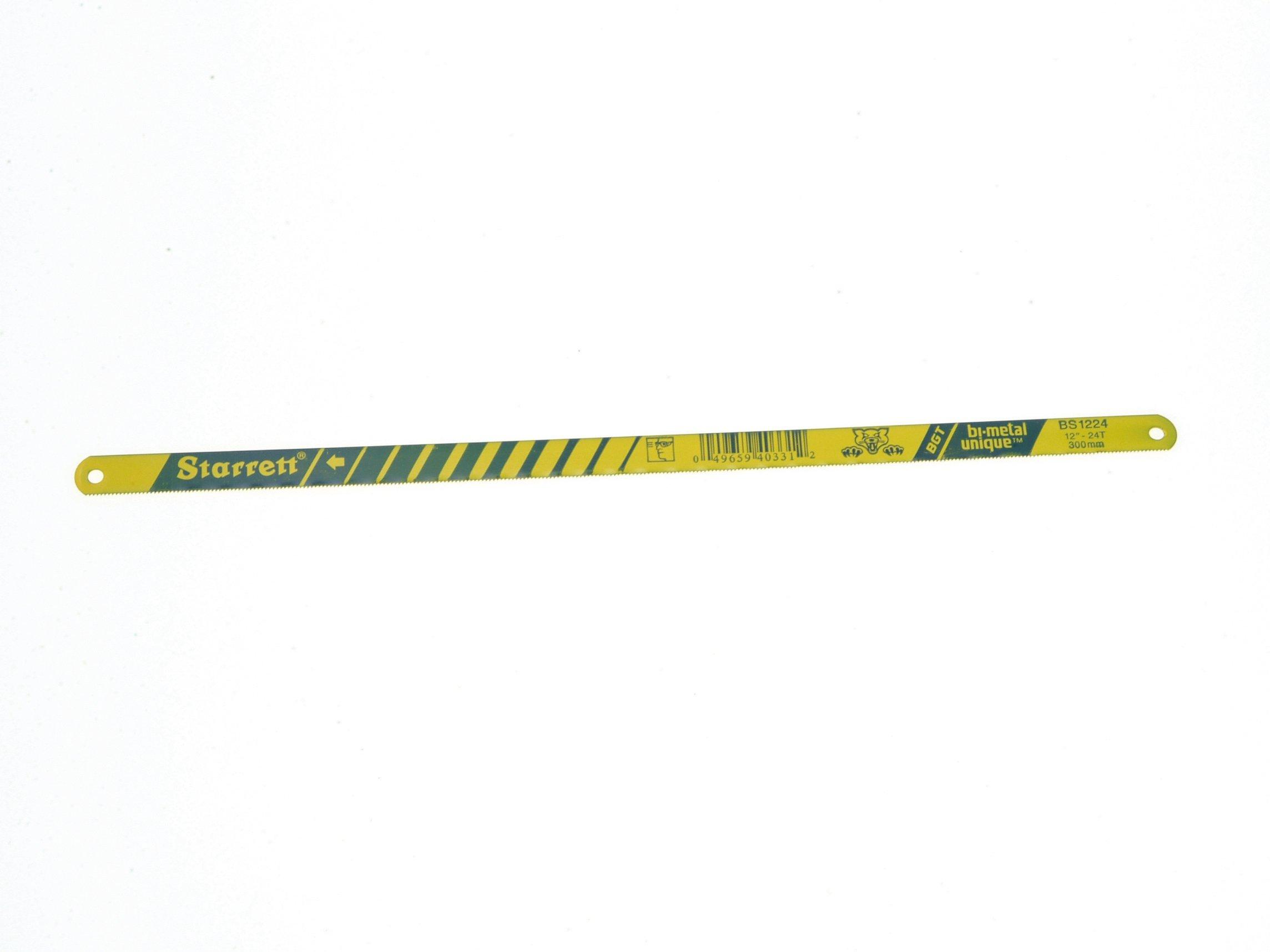 Bi-Metal Unique Safe-Flex Hacksaw Blades 300mm (12in) x 24tpi Box 50 by Starrett