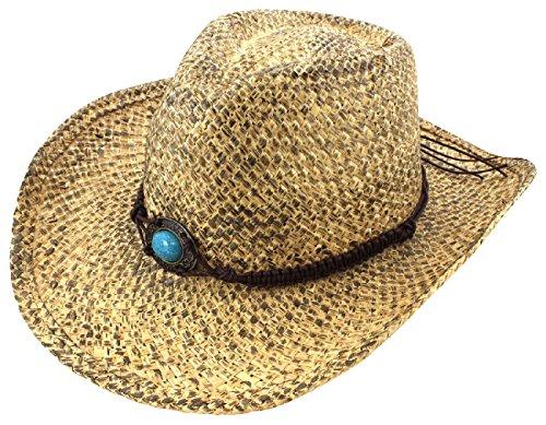 TDmall Western Cowboy Straw Hat Rodeo Wild West Western Cowgirl Raffia Summer Cap New (Wild Wild West Outfit)