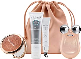 NuFACE Mini Petite Facial Toning Device, Shimmer All Night Collection, Mini Device + Microcurrent Skincare Regimen,...