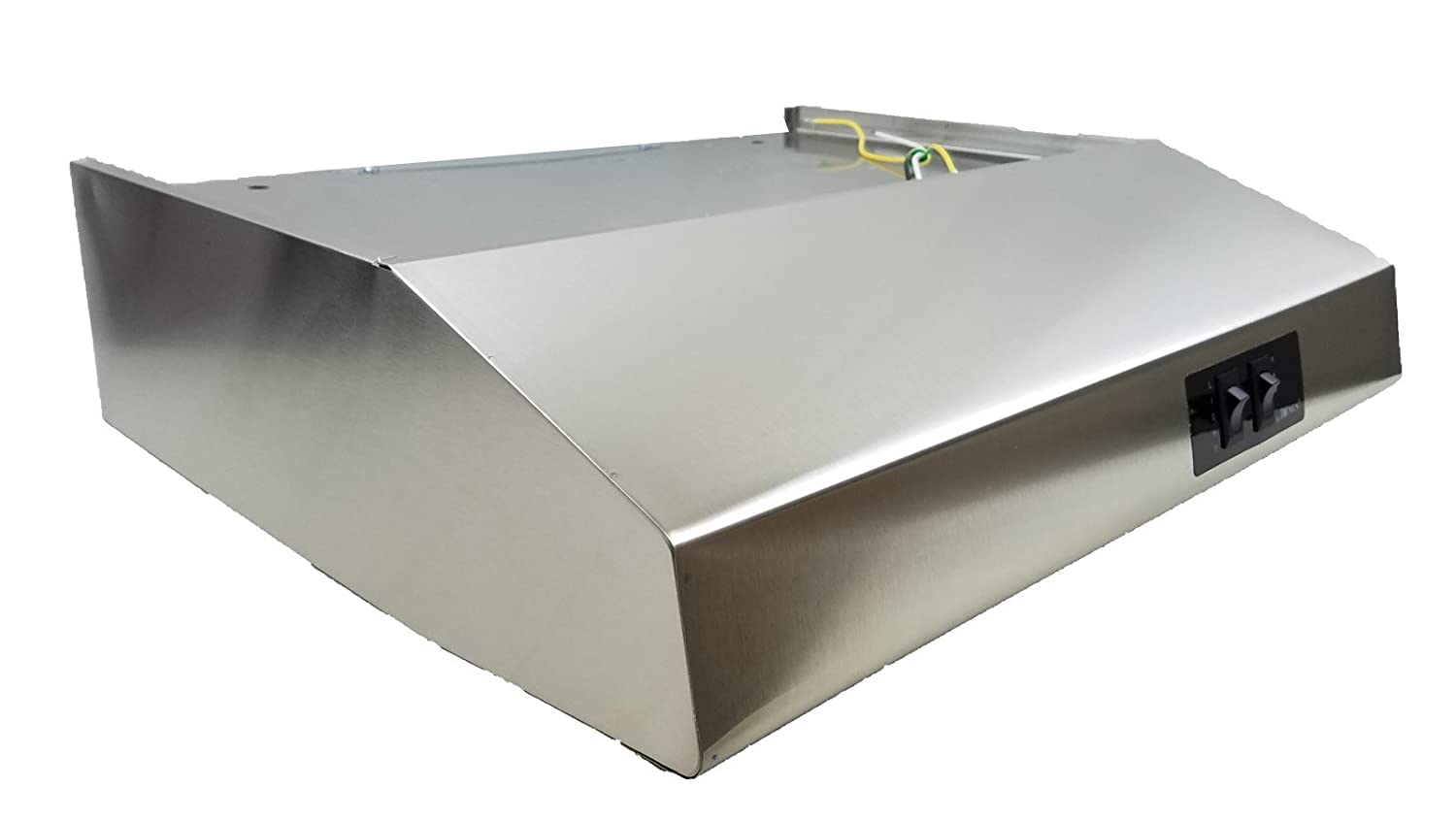 22' Stainless Steel Rear Ducted RV Range Hood (12 Volt DC) Hengs