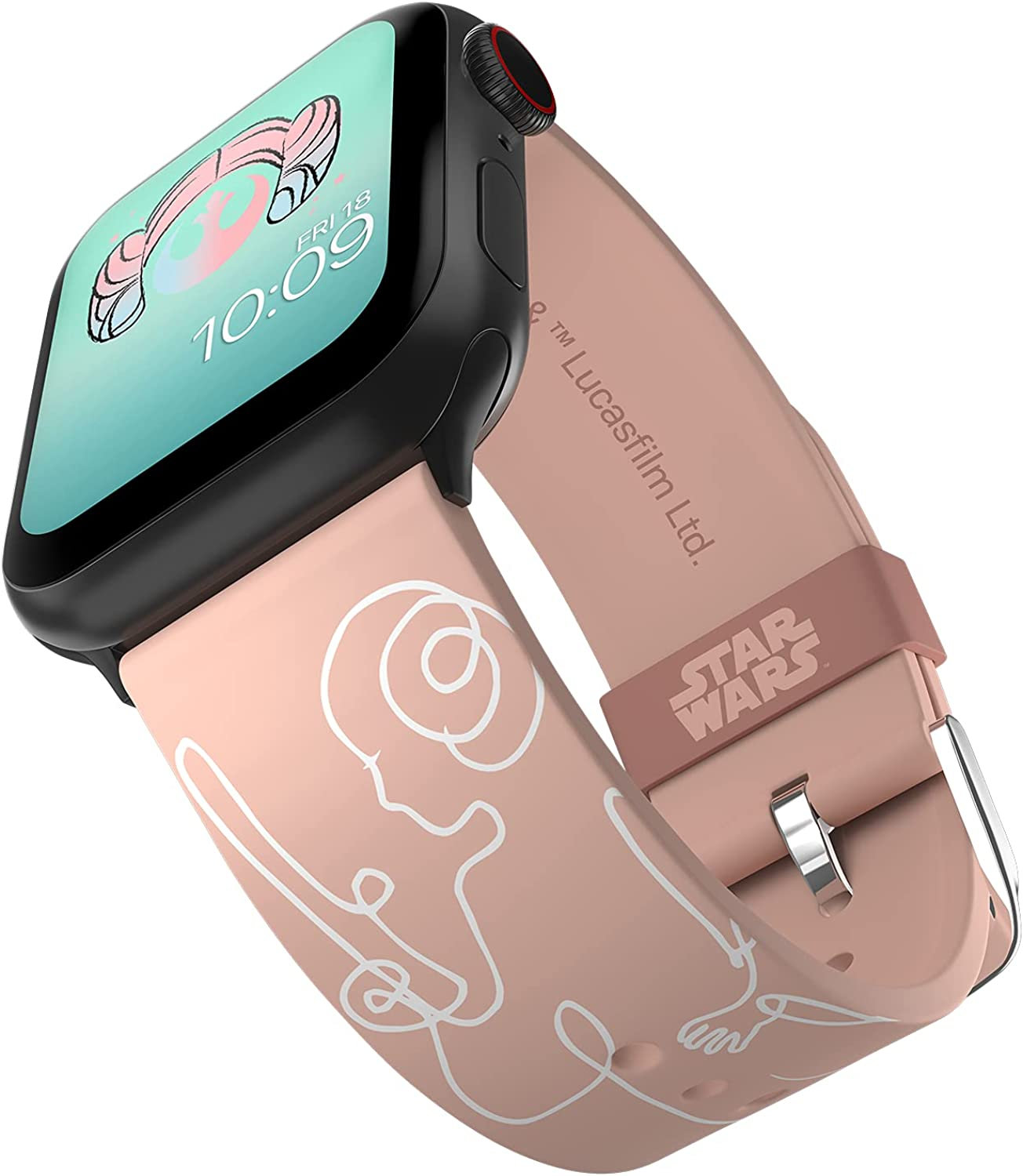 STAR WARS - Leia Organa Edition Smartwatch Band - Officially Licensed, Compatible with Apple Watch (not Included) - Fits 38mm, 40mm, 42mm and 44mm