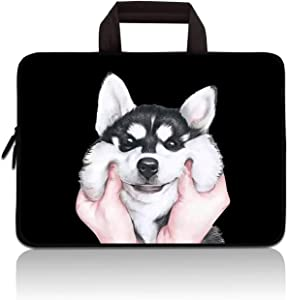 RUYIDAY 14 15 15.4 15.6 inch Laptop Handle Bag Computer Protect Case Pouch Holder Notebook Sleeve Neoprene Cover Soft Carrying Travel Case for Dell Lenovo Toshiba HP Chromebook ASUS Acer (Husky)
