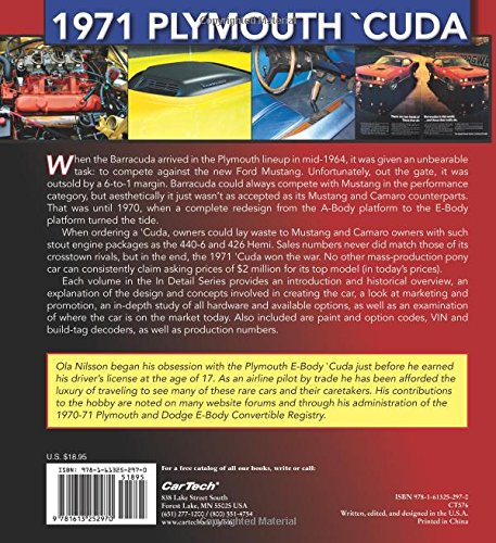 1971 plymouth cuda muscle cars in detail no 2 ola nilsson 1971 plymouth cuda muscle cars in detail no 2 ola nilsson 9781613252970 amazon books fandeluxe