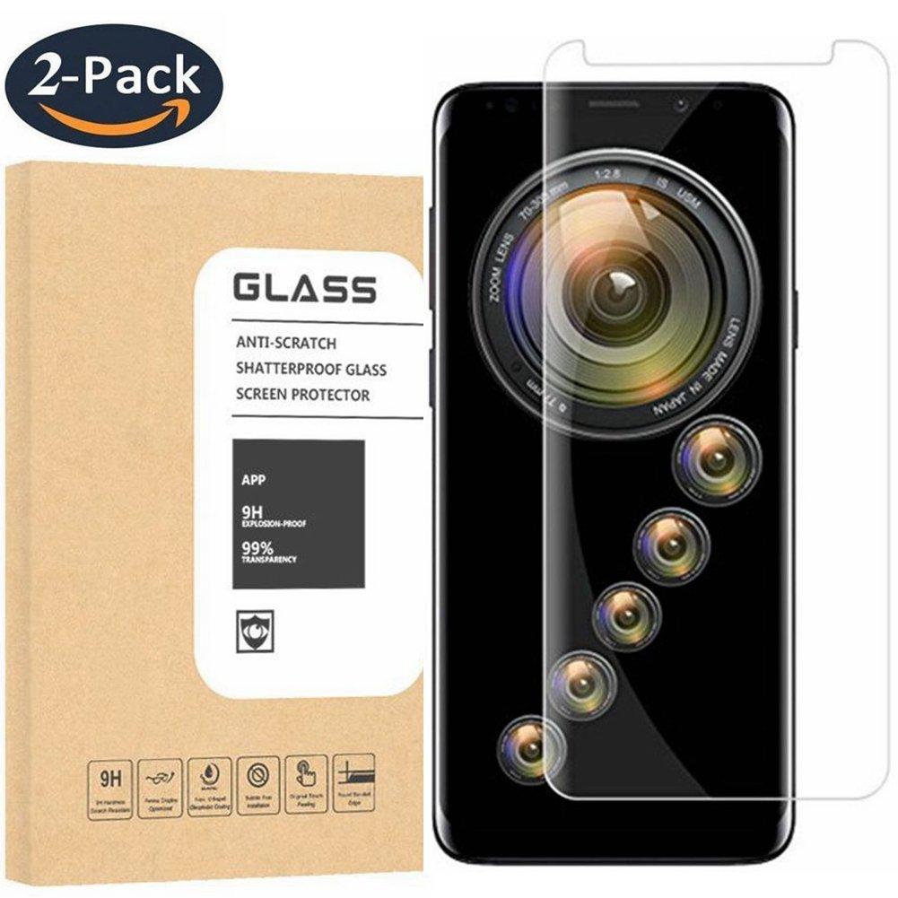 [2Pack] Samsung Galaxy S9 Tempered Glass Screen Protector, OLINKIT - 9H Hardness,Anti-Fingerprint,Ultra-Clear,Bubble Free Screen Protector for Galaxy S9