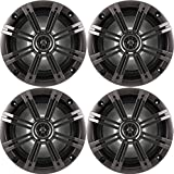 "Best Kicker Sound Quality Speakers - 2- Pair (4-Speakers) Kicker 6.5"" 195W Marine Audio Review"