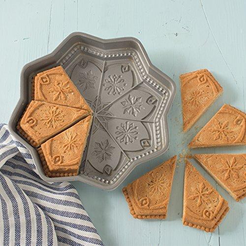 Nordic Ware Sweet Snowflakes Shortbread Pan, Silver