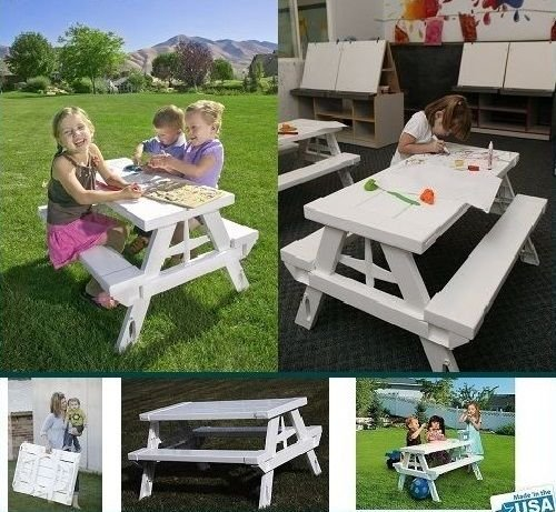 791..LQ Chair Chair Set Bench hild Ki Picnic Table nch Outdoor Beach door Be Children Child Kids ng Portable Folding Portable US6-LQ-16Jun6-158 ()