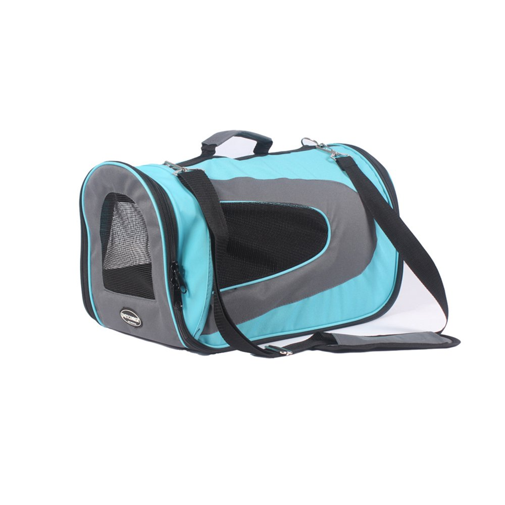 bluee WX-WX48 WW-XX Portable Pet Out Portable Package Shoulder Portable Travel Bag Cat Universal Cage Shoulin Cat Box Pet Package Handbag Luxury (color   bluee)