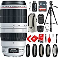 Canon EF 100-400mm f/4.5-5.6L IS II USM Lens with 5 Piece Filter Kit, 72 Tripod and Bundle Accessory