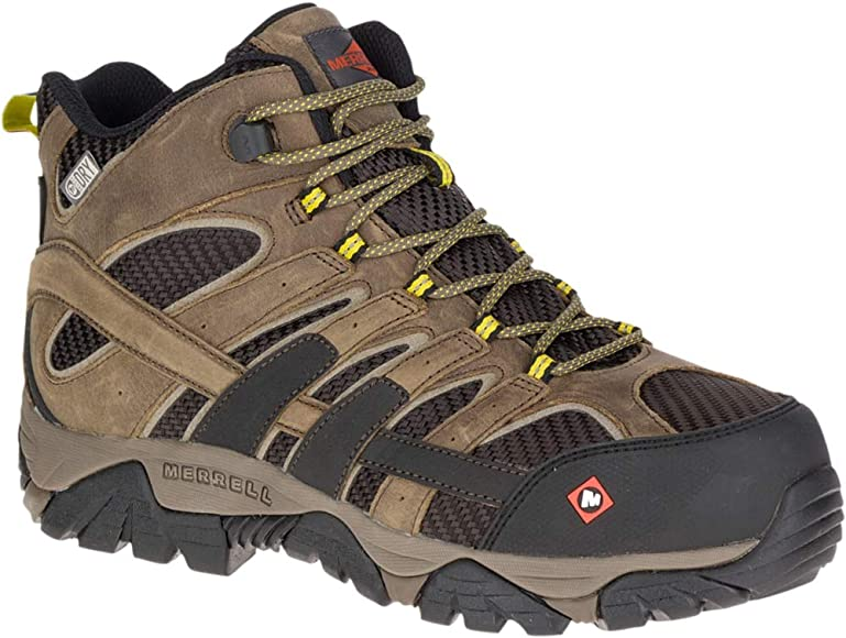 612ca686 Men's, Moab 2 Vent Mid Waterproof Composite Toe Work Boots Boulder 12 M