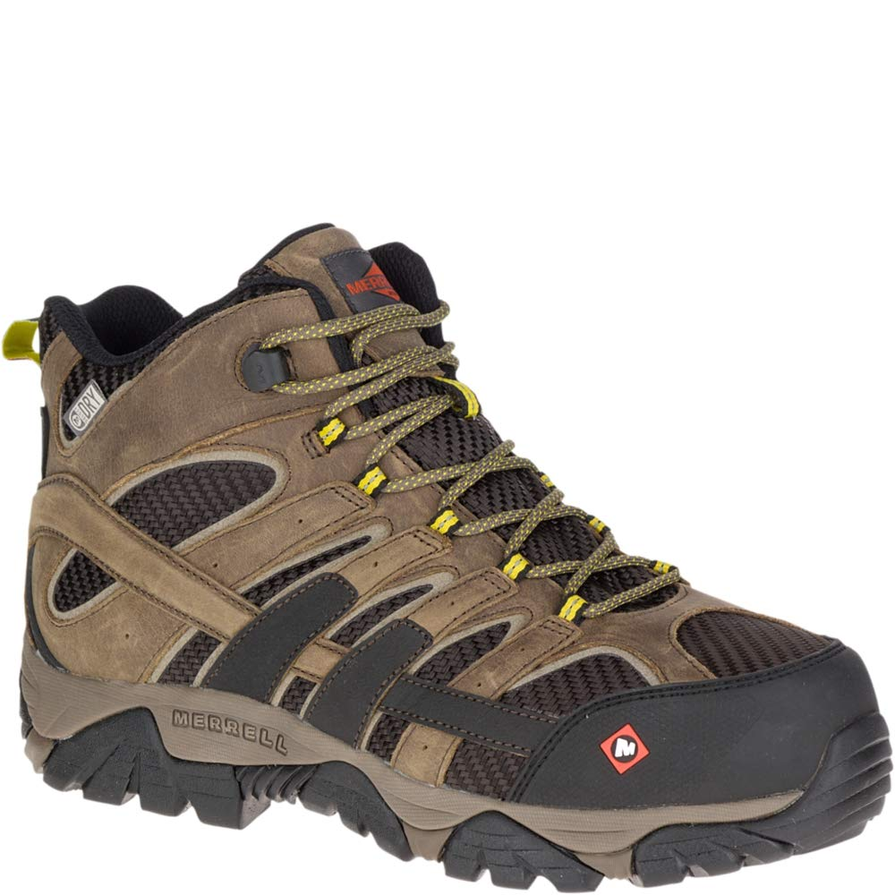 Merrell Men's, Moab 2 Vent Mid Waterproof Composite Toe Work Boots Boulder 9.5 M