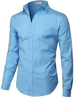 Amazon.com: Manwan walk Camisas de vestir para hombre de ...