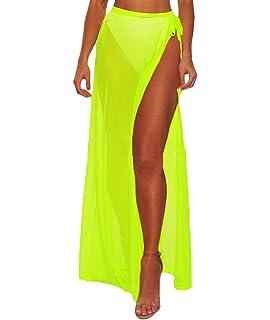 a3a2a1bab83 Eternatastic Womens Split Mesh Skirt Beach Cover up Maxi Skirt ...