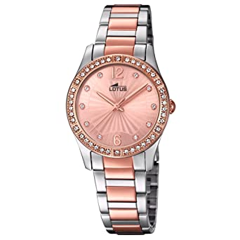 bcc31f65bf2b Lotus Reloj Analógico para Mujer de Cuarzo con Correa en Acero Inoxidable  18384 2  Amazon.es  Relojes