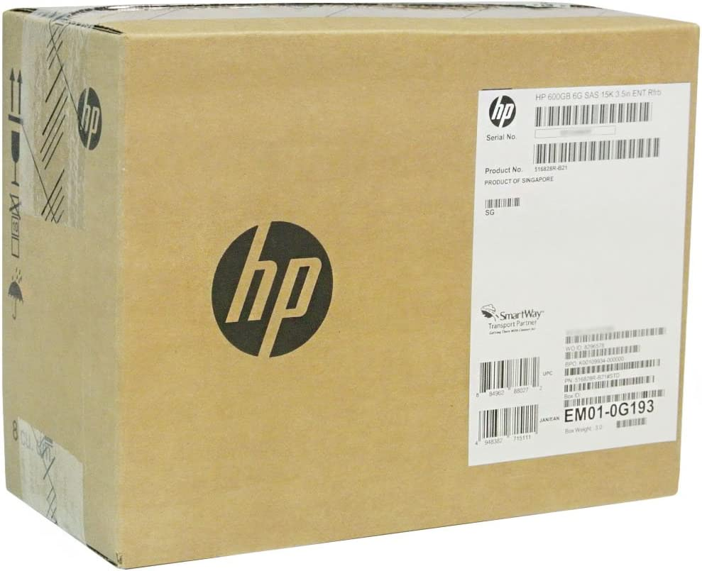 "HP 600GB 6G SAS 15K 3.5"" LFF Hot-Plug Hard Drive 517354-001"