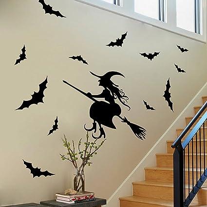 Amazoncom BIBITIME Scary Halloween Wall Stickers Vinyl Home Decor