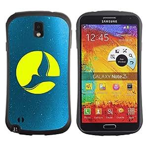 Suave TPU GEL Carcasa Funda Silicona Blando Estuche Caso de protección (para) Samsung Note 3 / CECELL Phone case / / Full Moon Dove /