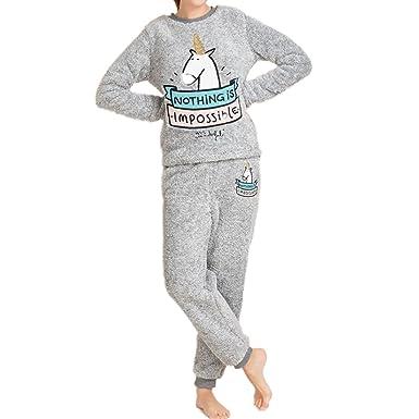 meilleure valeur magasiner pour le meilleur bébé GWELL Femme Ensembles de Pyjama Licorne Polaire Vêtements de Nuit Hiver  Automne en Flanelle