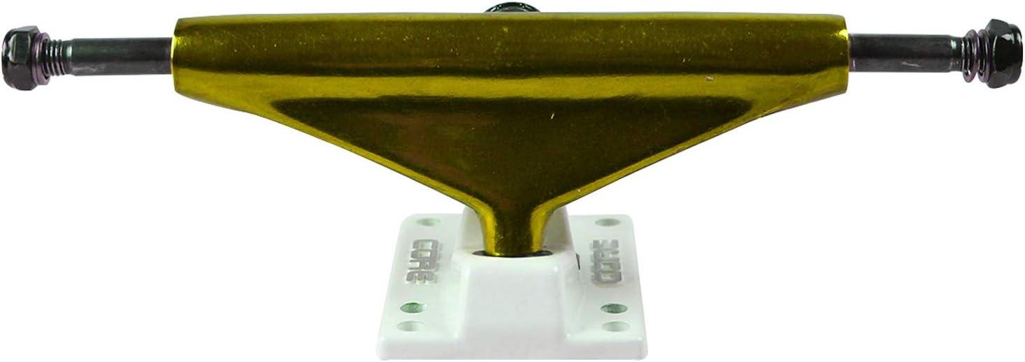 Core Skateboard Trucks 5.25 Anodized Gold//White Base Premium Bushings 8.0